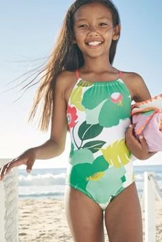 dc40277885e37 Multi Floral Print Swimsuit (3-16yrs) Swimsuit Pattern, Swimwear Fashion,  Bikini