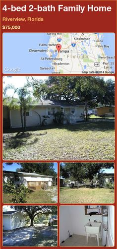 4-bed 2-bath Family Home in Riverview, Florida ►$75,000 #PropertyForSale #RealEstate #Florida http://florida-magic.com/properties/71642-family-home-for-sale-in-riverview-florida-with-4-bedroom-2-bathroom