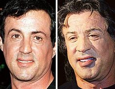 Sylvester Stallone-movie stars then and now-makes me feel better