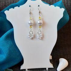 Dainty Earrings, Girls Earrings, Pearl Earrings, Drop Earrings, Handmade Shop, Etsy Handmade, Handmade Items, Handmade Gifts, Bridesmaid Earrings