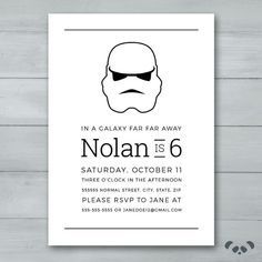 Storm Trooper Star Wars Birthday Party by PandafunkCreations