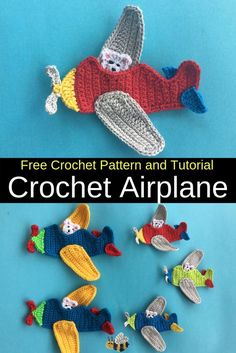 Get this free crochet pattern of this cute crochet airplane applique. Get this free crochet pattern of this cute crochet airplane applique at Kerri's Crochet. Appliques Au Crochet, Crochet Applique Patterns Free, Crochet Motifs, Crochet Flower Patterns, Crochet Squares, Crochet Flowers, Felt Patterns, Crochet For Boys, Cute Crochet