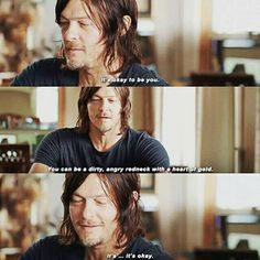 Norman Reedus on giving advice to his character (Daryl)