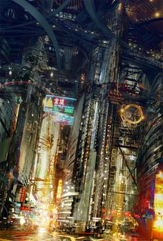 Futuristic city | #cyberpunk #scifi #darkfuture #bravenewworld