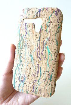 New Confetti Colorful Natural Wood Cork Art Phone Case For Motorola Moto G by Yunikuna
