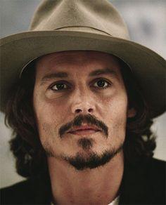 Johnny Depp, male actor, celeb, famous, hat, beard, intense eyes, sexy, hot, eyecandy, portrait, photo