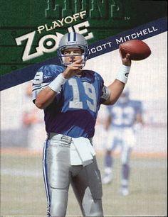 1997 Playoff Zone Detroit Lions Football Card #17 Scott Mitchell