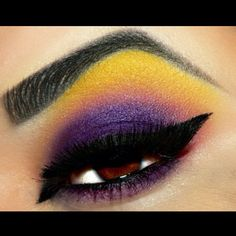 Amazing Poisoned Cupcake look by Stacey Rios using #Sugarpill Buttercupcake and Poison Plum eyeshadows with #MakeupGeek Corrupt. Love the yellow highlight!