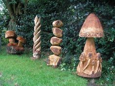 My First Chainsaw Carvings by j13art, via Flickr