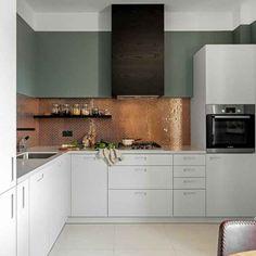 Rückwand der Küche in Kupfer gestalten – 20 Ideen für den Fliesenspiegel