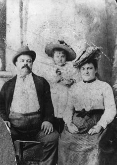 My Grandfather Jesse Holt, and my Grandmother Catherine Margret Conaty, and my Mother Mary Holt Flynn. About 1902