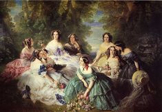 The Empress Eugenie Surrounded by her Ladies in Waiting by Franz Winterhalter
