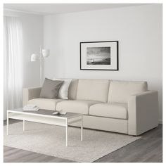 IKEA - VIMLE, Sofa, Gunnared beige, This soft and cozy sofa will have a long life as the seat cushions are filled with high resilience foam that gives good support for your body and quickly regains its original shape when you get up. At Home Furniture Store, Modern Home Furniture, Affordable Furniture, Ikea Furniture, Colorful Furniture, Furniture Dolly, Furniture Removal, Furniture Ideas, Sofa Design
