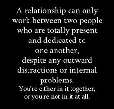 A relationship can only work between two people...