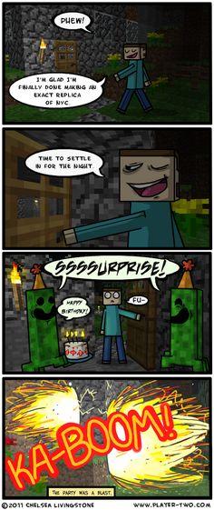 minecraft funny kaboom