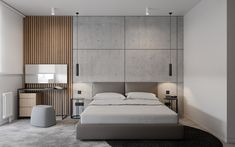2 bedroom apartment for a familyYekaterinburg Master Bedroom Interior, Modern Master Bedroom, Modern Bedroom Design, Master Bedroom Design, Home Bedroom, Masculine Interior, Side Tables Bedroom, Round Beds, Country House Interior