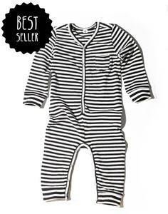 Goat Milk Striped Organic Union Suit from Noble Carriage