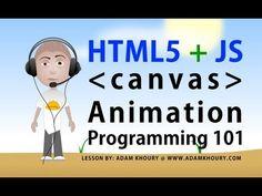 html5 canvas animation basics tutorial for beginners javascript programming lesson - YouTube