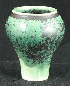Annikki Hovisaari for Arabia Miniature Art Pottery Vase Crystalline Glaze