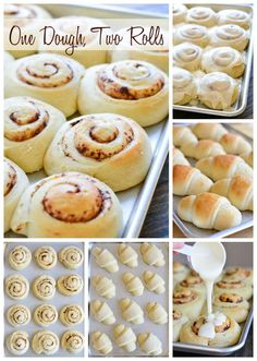 1 Dough = Crescent Rolls & Cinnamon Rolls