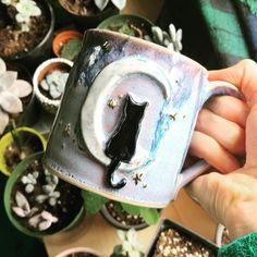 Clay dust is my pixie dust ✨ by ClayDustStudio Pottery Mugs, Ceramic Pottery, Pottery Art, Ceramic Cups, Ceramic Art, Mini Vasos, Personalized Candles, Cool Mugs, Handmade Copper