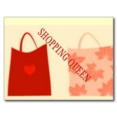 SHOPPING QUEEN COLLECTION POSTCARD