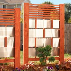 Carve out private space on your patio, and bring architectural dimension to your landscape with versatile wood-and-aluminum screen panels.