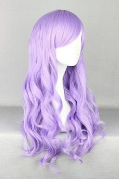 curly long cosplay wigs at www.favorwe.com ,rainbow colroful, blonde anime,red,pink,green,purple,white,blue