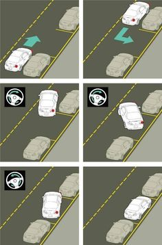 Driving: What are some parallel parking tips? Taking test tomorrow! Driving Tips For Beginners, Driving Basics, Driving Test Tips, Driving Safety, Driving School, Parallel Parking Tips, How To Parallel Park, Learning To Drive Tips, Drivers Ed