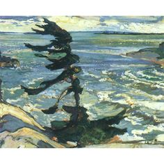 Quality print by Group Of Seven artist Frederick Varley - Stormy Weather Georgian Bay; Available framed, giclee canvas. Made In Canada. Group Of Seven Artists, Group Of Seven Paintings, Landscape Quilts, Landscape Paintings, Oil Paintings, Roi George, Canadian Artists, English Artists, Tree Art