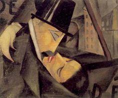 Tamara de Lempicka, the kiss 1922
