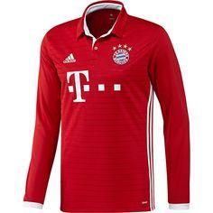 adidas Bayern Munich Home Long Sleeve Jersey 16 17 Uniformes De Futbol 996ebeba32f4c