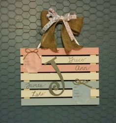 Personalized Hospital Door Hanger for twins by ilovehollyshobbies