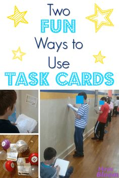 Task cards are an am