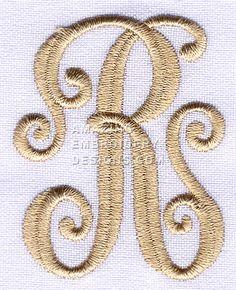 Embroidery elegant monogram font