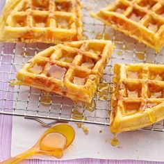 Honig-Aprikosen-Waffeln Rezept | Küchengötter