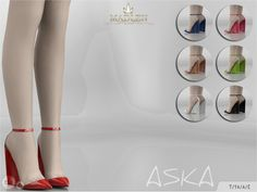 Aska Shoes for The Sims 4