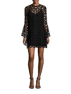 NICHOLAS Long Sleeve Lace Dress