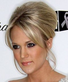 wedding hair | Home » Updo Hairstyle » Carrie Underwood Beehive Updo Hairstyle ...