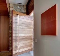 Pivot doors for back of house. Wooden Door Design, Main Door Design, Architecture Bauhaus, House Architecture, Pivot Doors, Internal Doors, Oak Doors, Wooden Front Doors, Wooden Windows