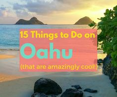 Planning a trip to Oahu? Here are 15 of my favorite things to do including snorkeling at Hanauma Bay, spending the day at Lanikai Beach, and hanging out in Haliewa on the north shore. Have you been to Oahu? Need A Vacation, Hawaii Vacation, Hawaii Travel, Dream Vacations, Beach Vacations, Honolulu Hawaii, Hawaii 2017, Maui, Stuff To Do