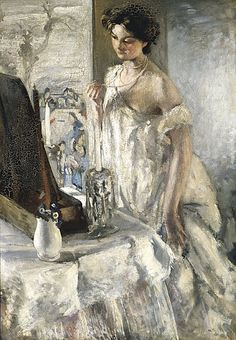 "Henry TONKS (1862-1937) . "" The pearl necklace """