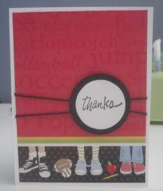 Renee's Sweet Things: Teacher Thank You Cards Scrapbook Layouts, Scrapbooking, Teacher Thank You Cards, Teacher Appreciation Week, Some Cards, Homemade Cards, Business Ideas, School Stuff, School Ideas