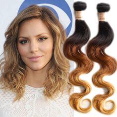 DE lokal 50g/Bundle 3 Ton Schatten Körperwelle Haareinschlag Real Mensch Haar