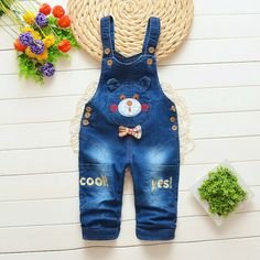 Provided Miniwear 0-3 Month Baby Boy Jean Alligator Shortalls Baby & Toddler Clothing