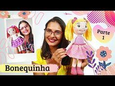 Amigurumi - Bonequinha - Parte 1/4 - YouTube Amigurumi Doll, Amigurumi Patterns, Black Thread, Doll Parts, Crochet Dolls, Hello Everyone, Single Crochet, Free Pattern, 1
