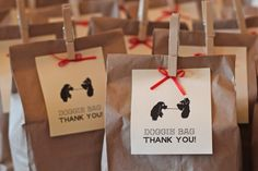 Lady and the Tramp Doggie Bag Favors