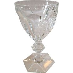 French Architectural Baccarat Harcourt Water Goblets from Antiques of River Oaks on Ruby Lane $125