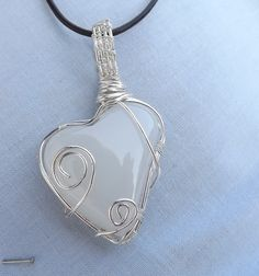 Onyx marble wire wrapped pendant onyxmarble by Mammybluebeads