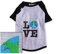 Earth, Peace and Love tee